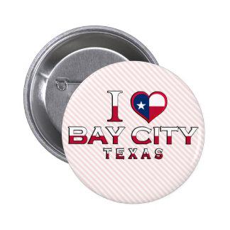 Bay City Texas Button