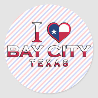 Bay City, Texas Round Stickers