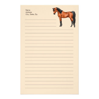 Bay Egyptian Arabian Horse Stationery