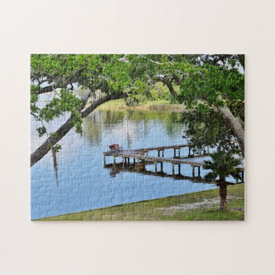 Bay Fishing Pier Jigsaw Puzzle