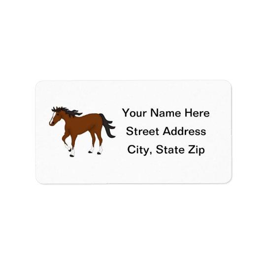 Bay Horse Address Label