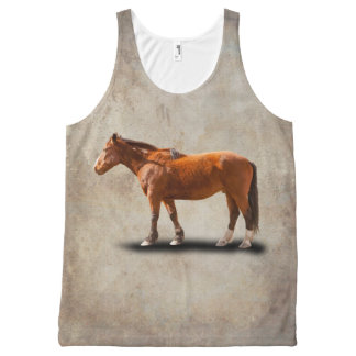 BAY HORSE All-Over PRINT TANK TOP