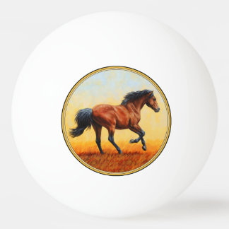 Bay Horse Galloping