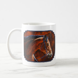 Bay Horse Hanoverian Warmblood Coffee Mug