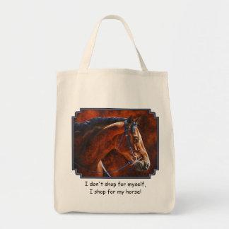 Bay Horse Hanoverian Warmblood Tote Bag