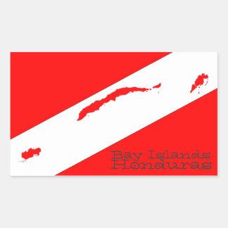 Bay Islands Scuba Rectangular Sticker