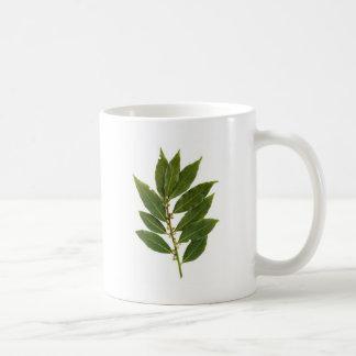 Bay leaf coffee mug