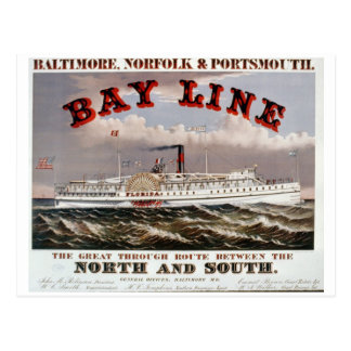 Bay Line - The Great Through Line Postcard