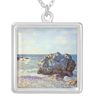 Bay of long-country with rock by Alfred Sisley Necklace