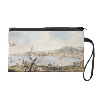 Bay of Naples from sea shore near the Maddalena Br Wristlet Clutch