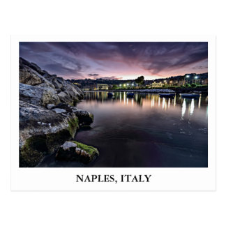 Bay of Naples in Italy Postcard
