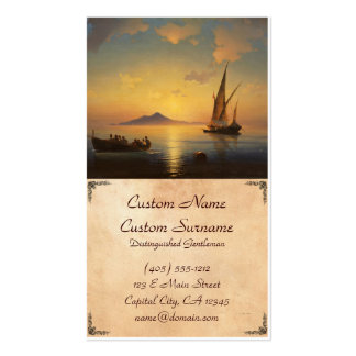 Bay of Naples Ivan Aivazovsky seascape waterscape Pack Of Standard Business Cards