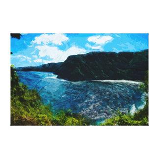 Bay On the Road to Hana Maui Hawaii Abstract Canvas Print