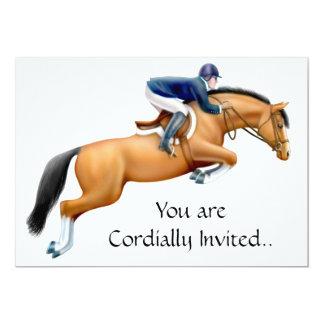 Bay Show Jumper Equestrian Horse Invitation