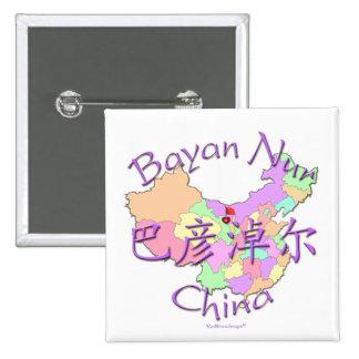 Bayan Nur China Pinback Buttons