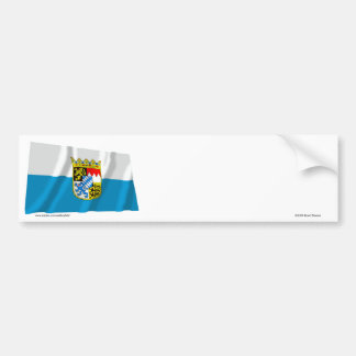 Bayern / Bavaria Flag with Arms Bumper Stickers