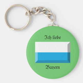 Bayern Flag Gem Key Chain