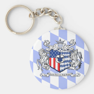 Bayern MAHS Crest Basic Round Button Key Ring