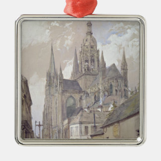 Bayeux Cathedral, View from the South East Metal Ornament