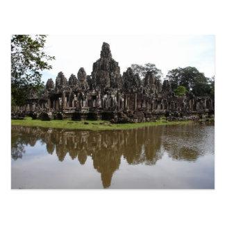 Bayon Temple at Angkok Wat in Cambodia Postcard