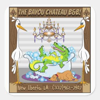 Bayou Chateau, New Iberia, LA- Bed & Breakfast Square Sticker