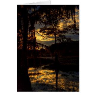 Bayou Sunset Reflection Card