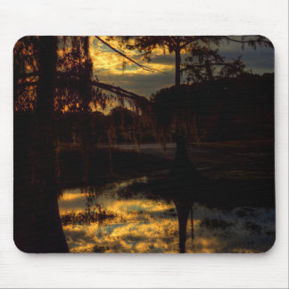 Bayou Sunset Reflection Mouse Pad