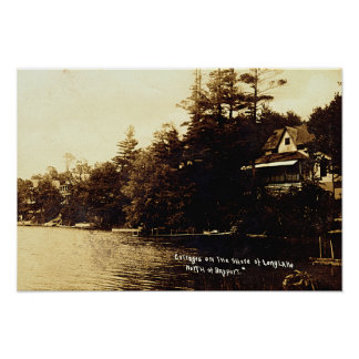Bayport Michigan Lake Fenton Poster
