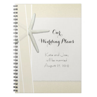 Bayside Beach Themed Wedding Planner Memory Book Note Books