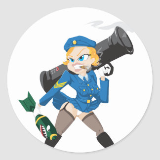 Bazooka Girl Sticker