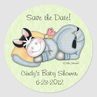 """BaZooples """"Save the Date!"""" Zach Sticker"""