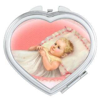 BB BABY NEW BORN CARTOON compact mirror HEART