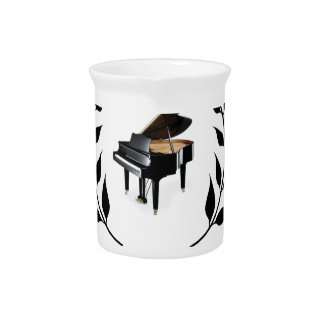bb classical piano beverage pitcher