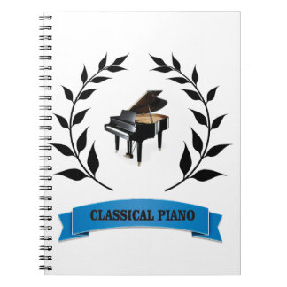 bb classical piano note book