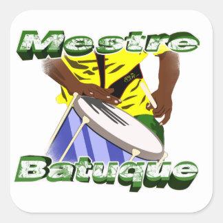 BBaC Stiker Mestre Batuc Samba Batucada Brasil Square Sticker