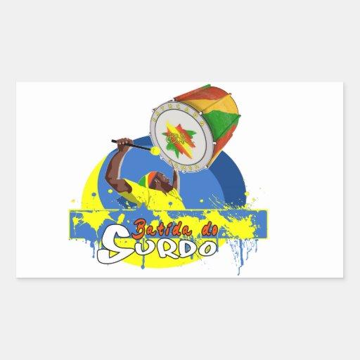 BBaC Stuff Surdo Special K Samba Batucada Brasil Rectangle Sticker