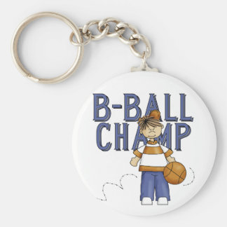 BBall Champ T-shirts and Gifts Basic Round Button Key Ring