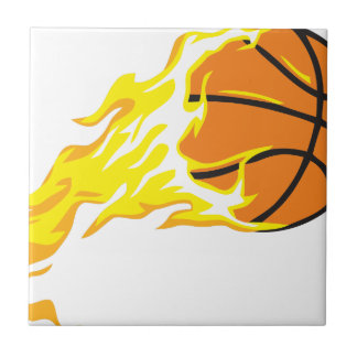 bball flame ceramic tile