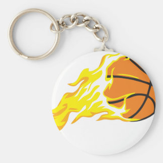 bball flame key ring