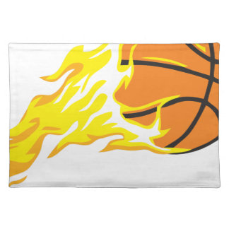 bball flame placemat