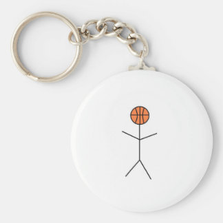 bballnog basic round button key ring