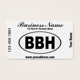 BBH Boothbay Harbor Maine Business Card