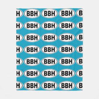 BBH Boothbay Harbor Maine Fleece Blanket