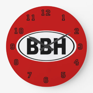 BBH Boothbay Harbor Maine Large Clock
