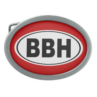 BBH Boothbay Harbor Maine Oval Belt Buckle