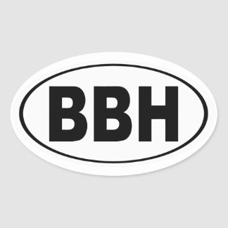 BBH Boothbay Harbor Maine Oval Sticker
