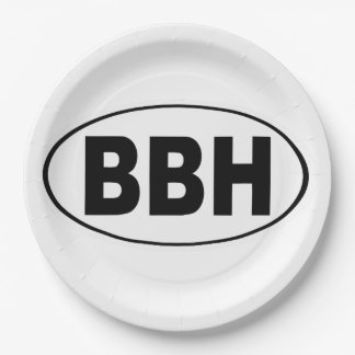BBH Boothbay Harbor Maine Paper Plate