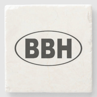 BBH Boothbay Harbor Maine Stone Beverage Coaster