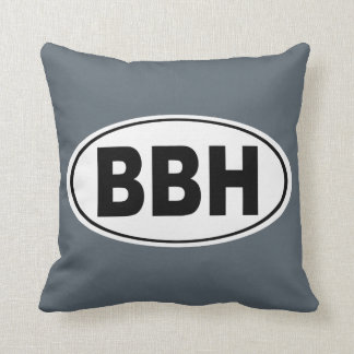 BBH Boothbay Harbor Maine Throw Pillow