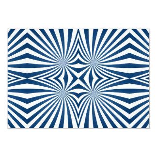 bBlue repeating hypnotic pattern 9 Cm X 13 Cm Invitation Card